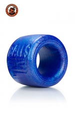 Balls-XL Ballstretcher - bleu : La référence des ball-stretchers, version grande taille,  100% silicone Platinum, marque Oxballs, coloris bleu.